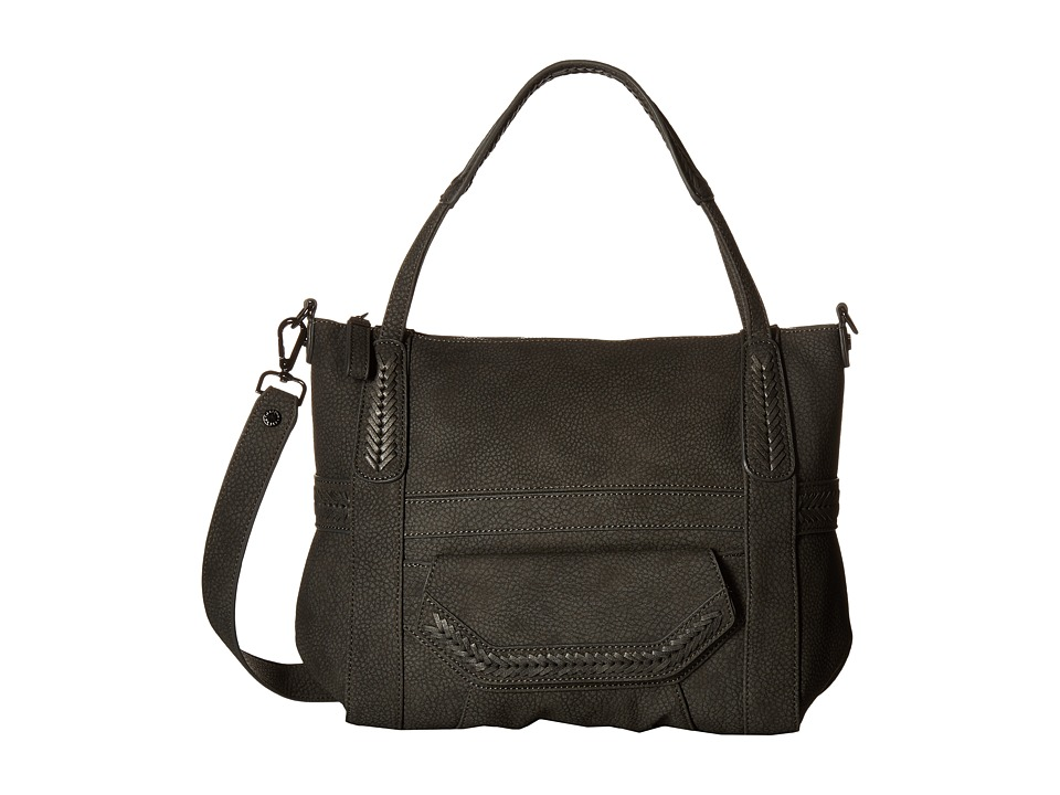 Steve Madden - Distressed Tote (Charcoal) Tote Handbags
