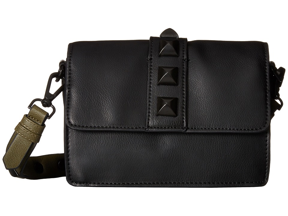 Steve Madden - Flap Shoulder Bag Mini (Black) Shoulder Handbags