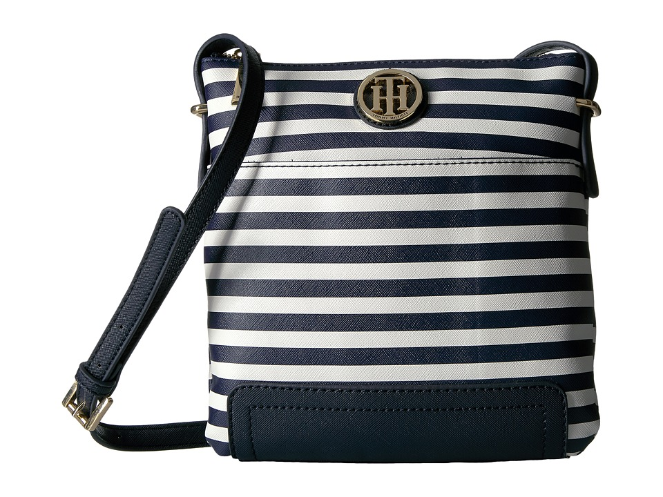 Tommy Hilfiger - Honey North/South Crossbody (Navy/Cream) Cross Body Handbags