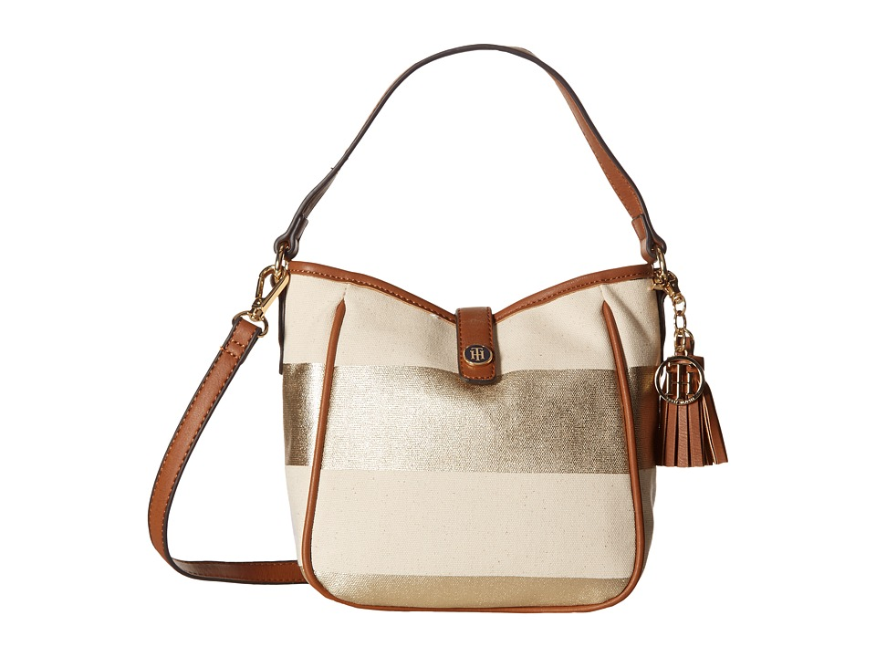 Tommy Hilfiger - Hazel Convertible Crossbody (Gold/Natural) Cross Body Handbags