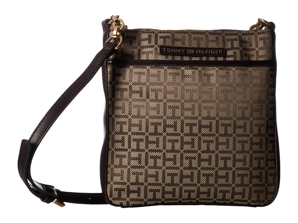 Tommy Hilfiger - Emilia North/South Crossbody (Tan/Dark Chocolate) Cross Body Handbags