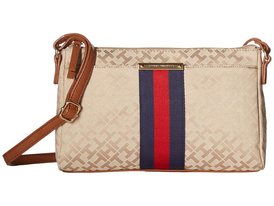 Tommy Hilfiger - Eve II East/West Crossbody (Khaki/Tonal) Cross Body Handbags