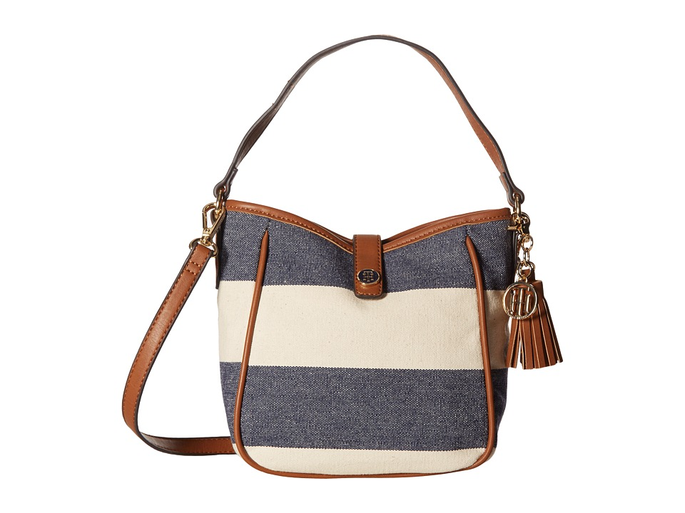 Tommy Hilfiger - Hazel Convertible Crossbody (Navy/Natural) Cross Body Handbags