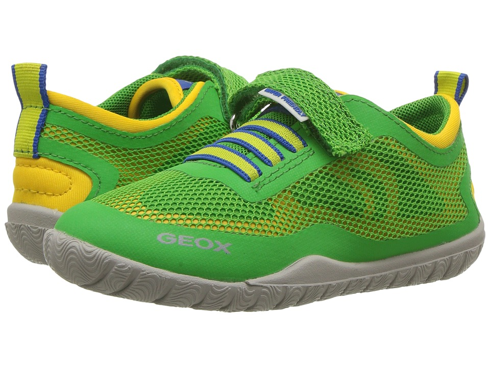 Geox Kids - Jr Trifon Boy 1 (Toddler/Little Kid) (Green/Yellow) Boy's Shoes