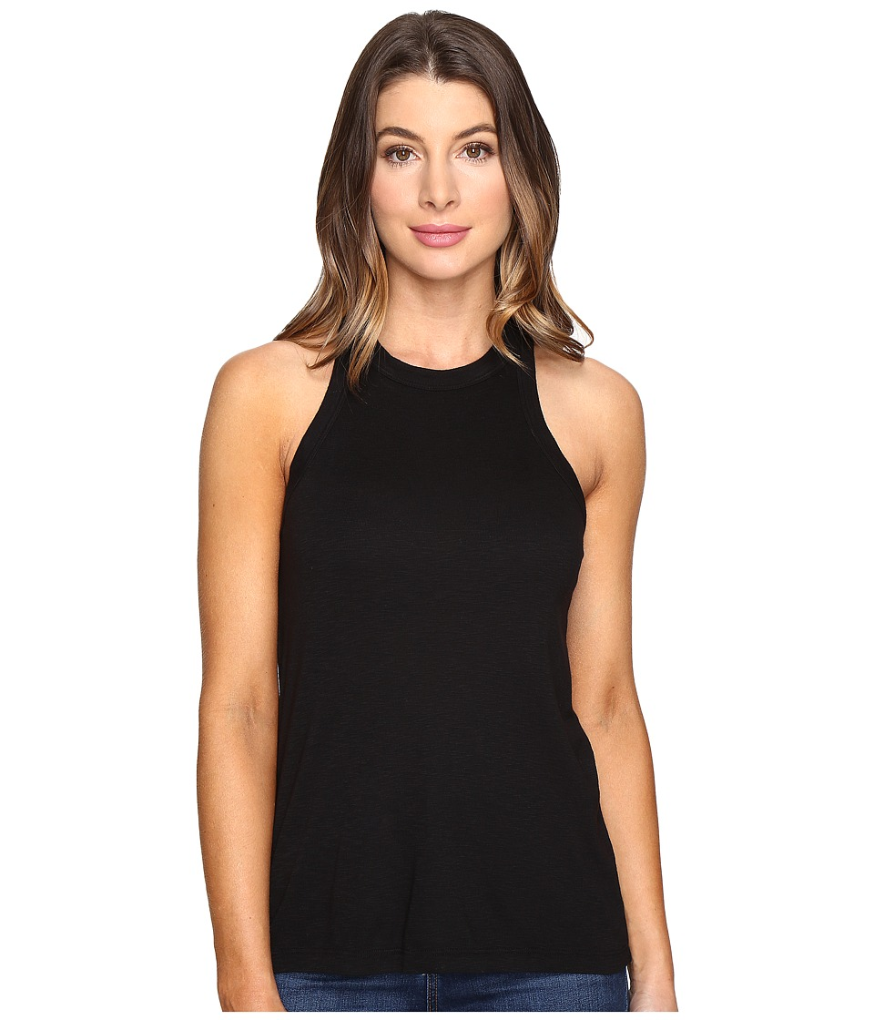 Splendid - 1x1 Sporty Halter (Black) Women's Sleeveless