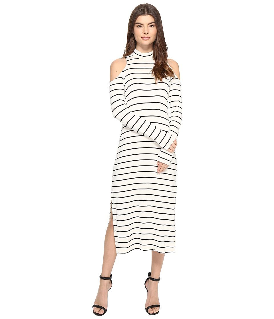 Splendid Dune Stripe Envelope Dress (White/Black) Women