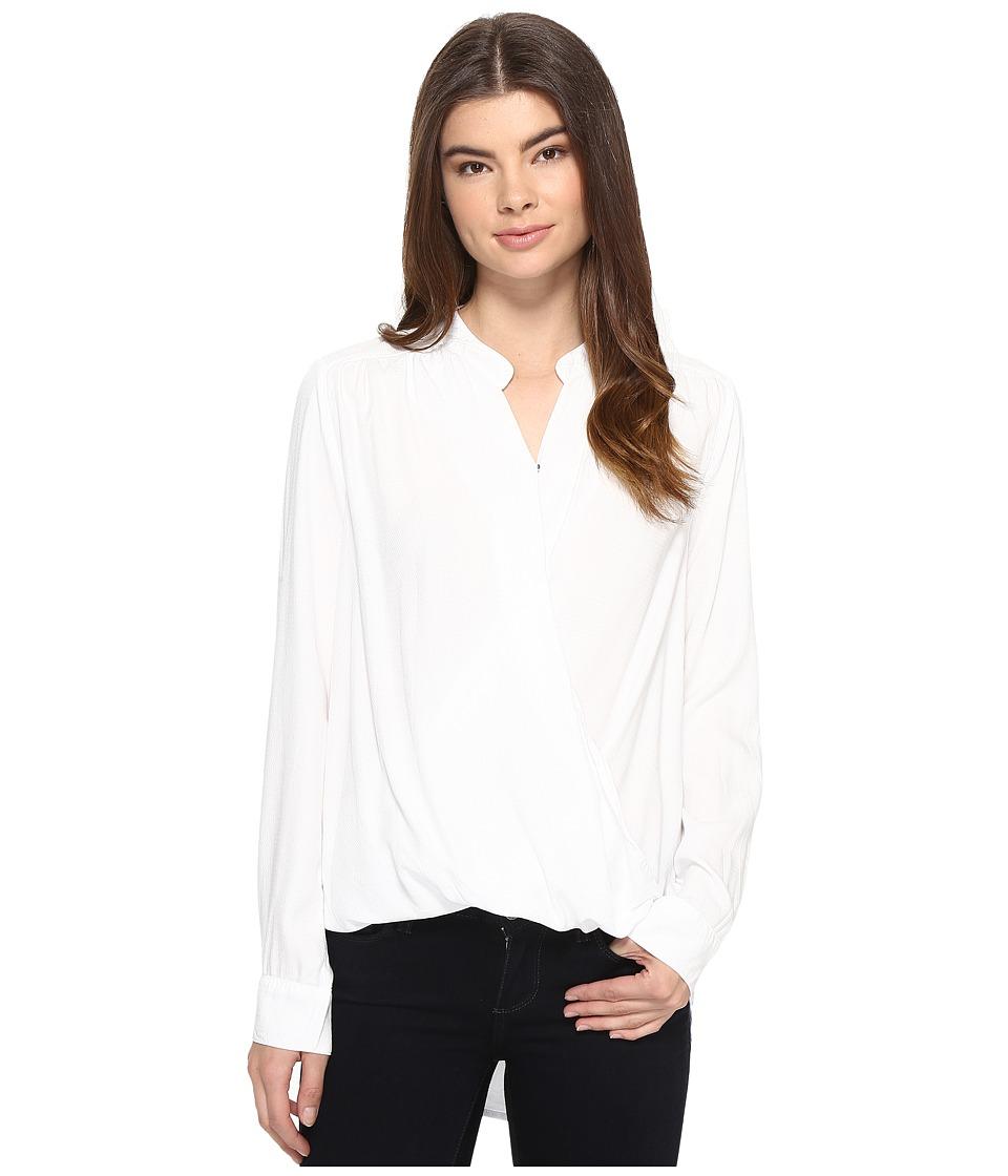 Splendid - Surplice Top (White) Women's Long Sleeve Pullover