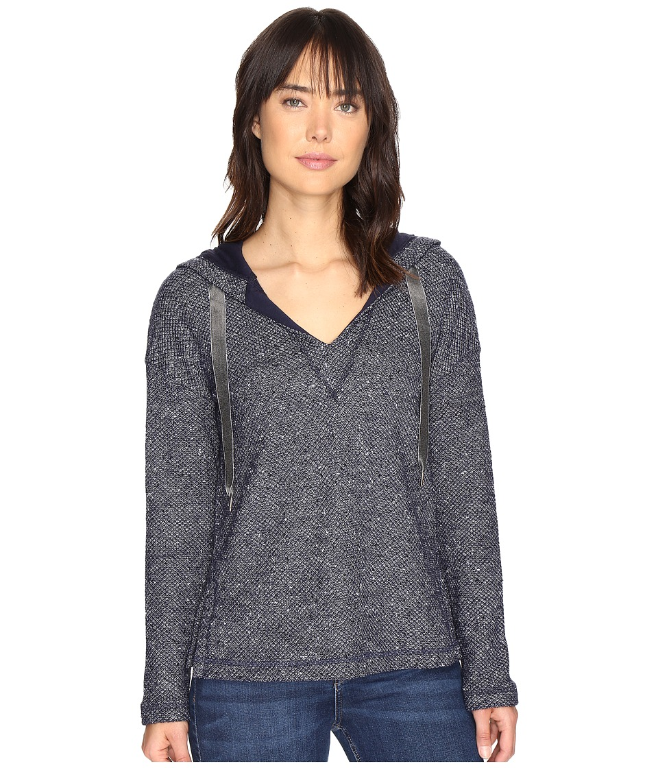 Splendid - Morrow Bay Boxy Hoodie (Navy) Women's Sweatshirt