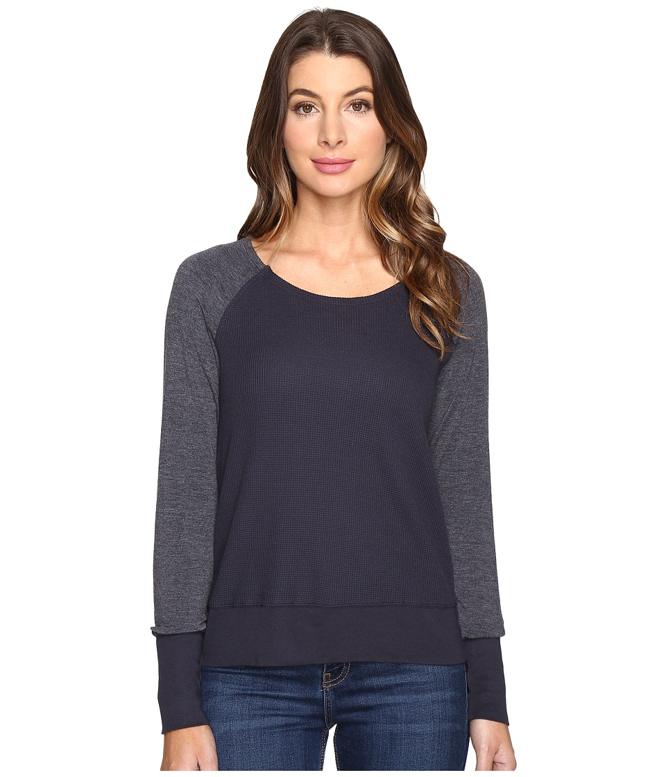 Splendid - Thermal Popover (Ink) Women's Long Sleeve Pullover