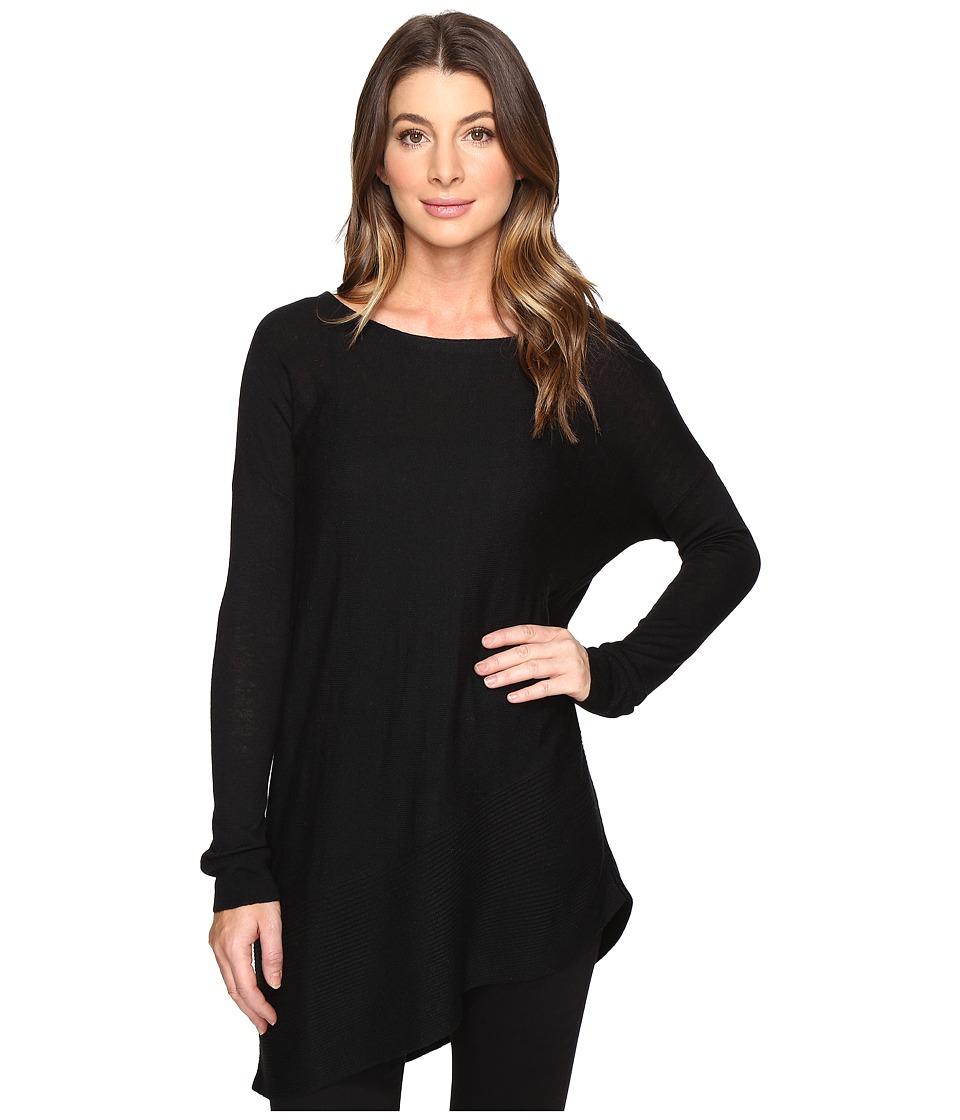 Splendid - Asymmetrical Hem Pullover (Black) Women's Long Sleeve Pullover
