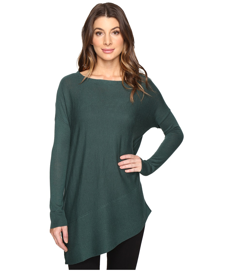 Splendid - Asymmetrical Hem Pullover (Dark Pine) Women's Long Sleeve Pullover