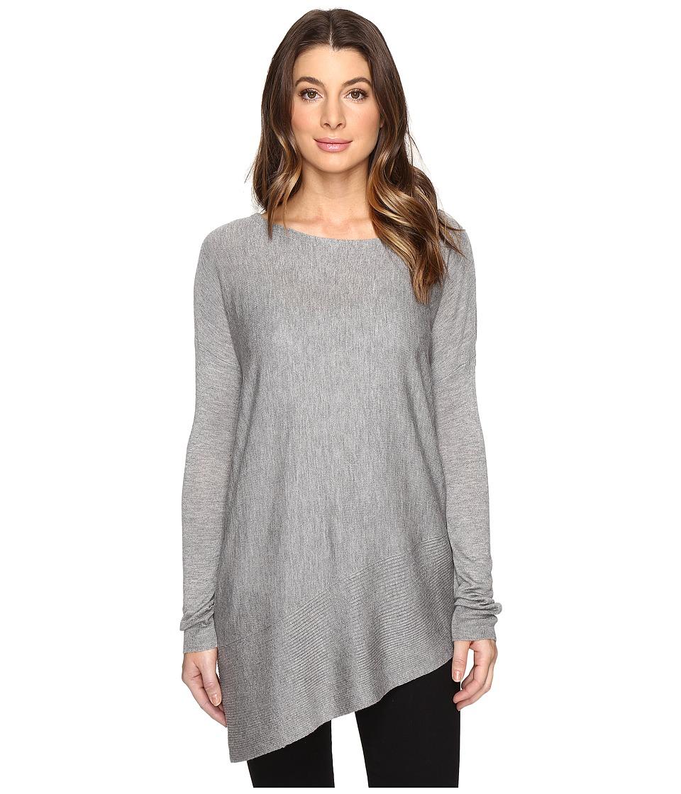 Splendid - Asymmetrical Hem Pullover (H.Slate) Women's Long Sleeve Pullover