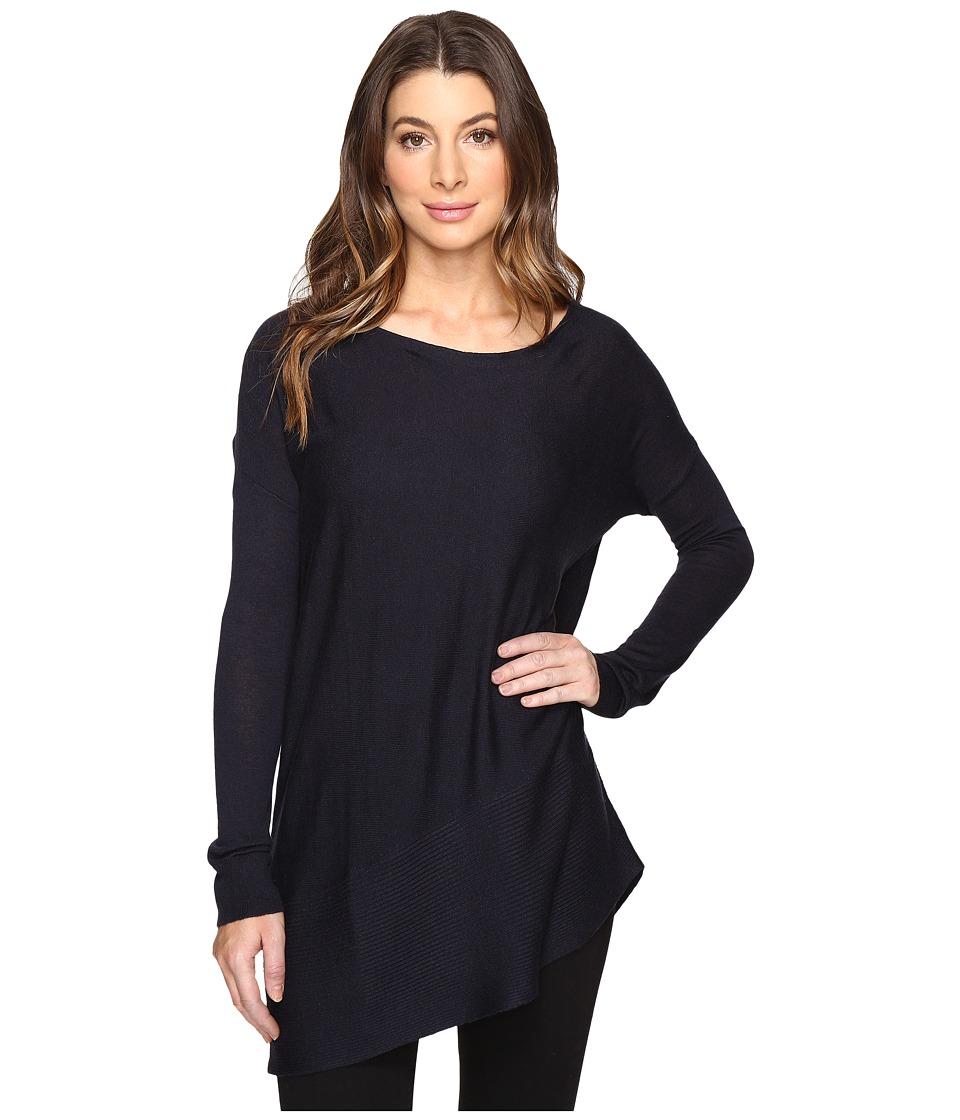 Splendid - Asymmetrical Hem Pullover (Navy) Women's Long Sleeve Pullover