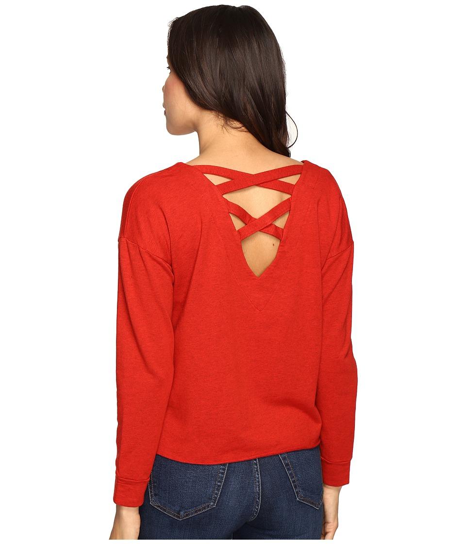 Splendid - Crossback Top (Fiesta) Women's Long Sleeve Pullover