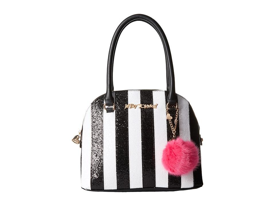 Betsey Johnson - Candy Cane Dome Satchel (Stripe) Satchel Handbags