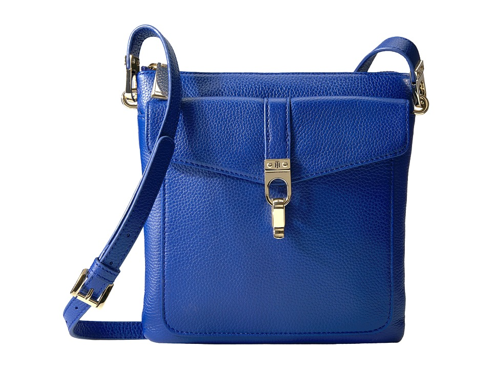 Tommy Hilfiger - Kira North/South Crossbody Pebble Leather (Cobalt) Cross Body Handbags