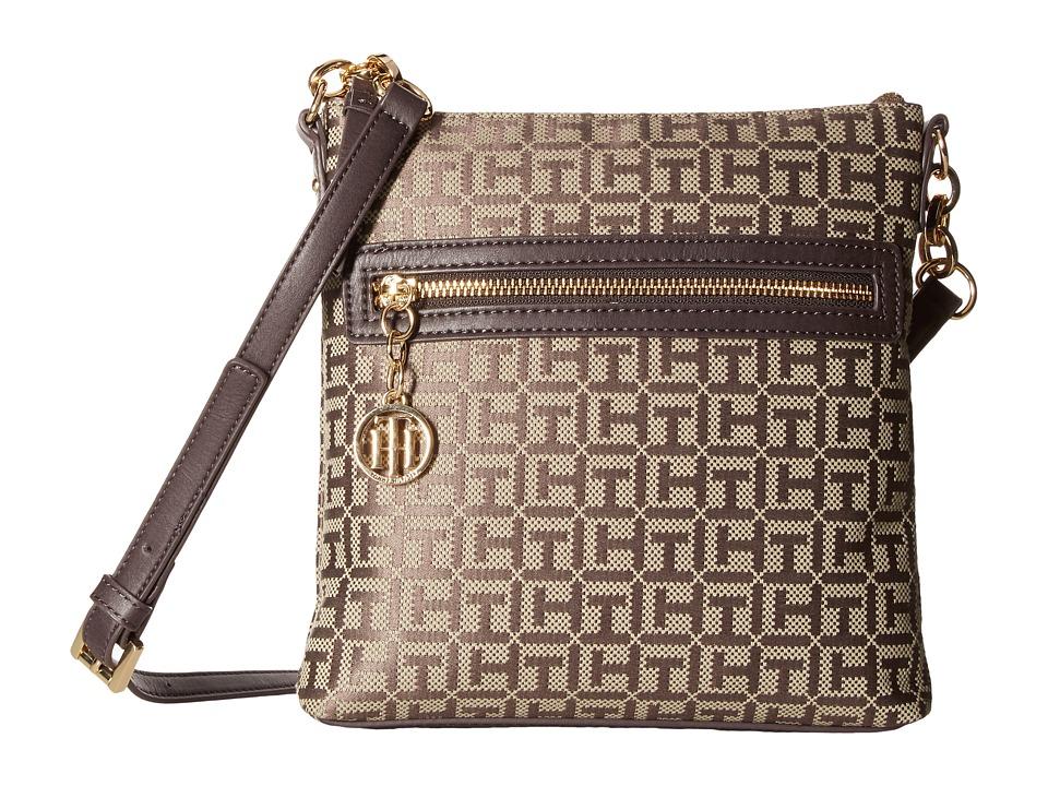 Tommy Hilfiger - Leila North/South Crossbody (Tan/Dark Chocolate) Cross Body Handbags