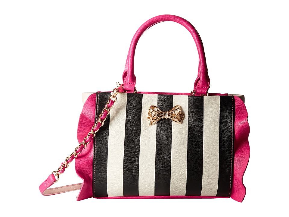 Betsey Johnson - Flouncin' Around Top-Handle (Stripe) Top-handle Handbags