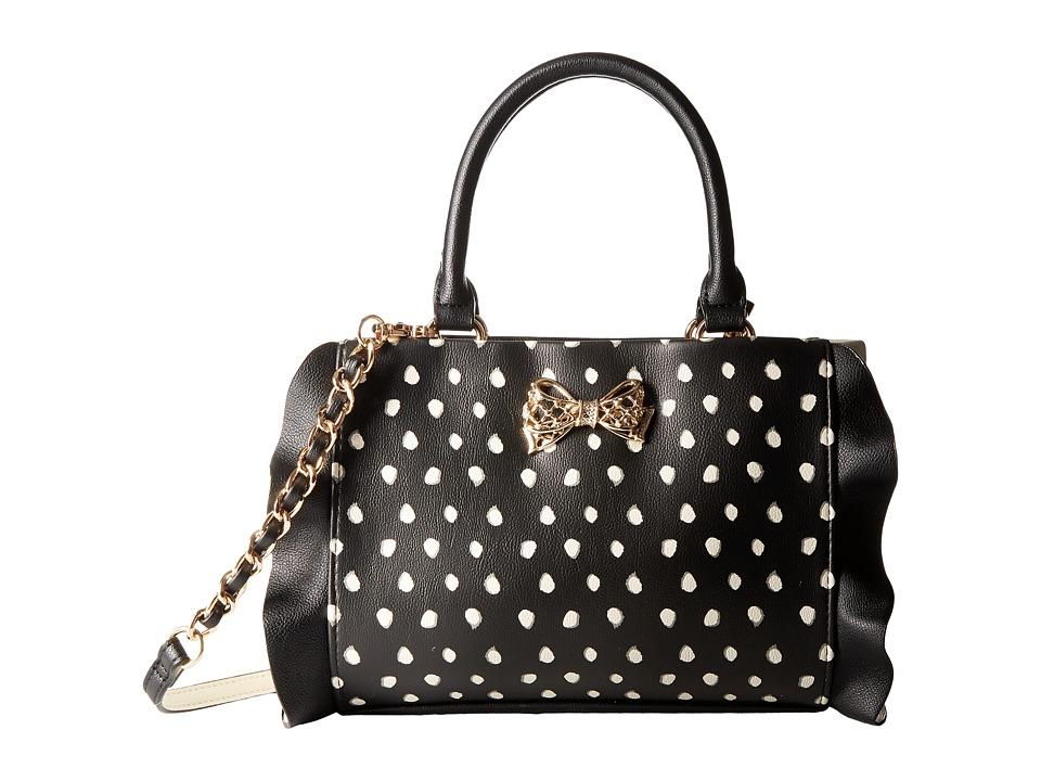 Betsey Johnson - Flouncin' Around Top-Handle (Black Dot) Top-handle Handbags