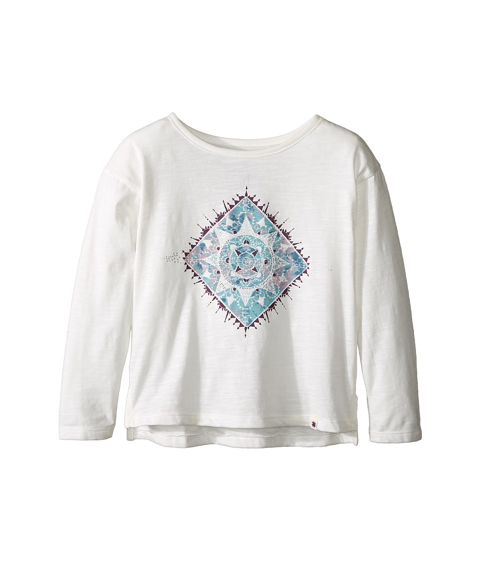 Lucky Brand Kids Long Sleeve Tee with Water Color Graphic Shirt (Toddler) (Gardenia) Girl