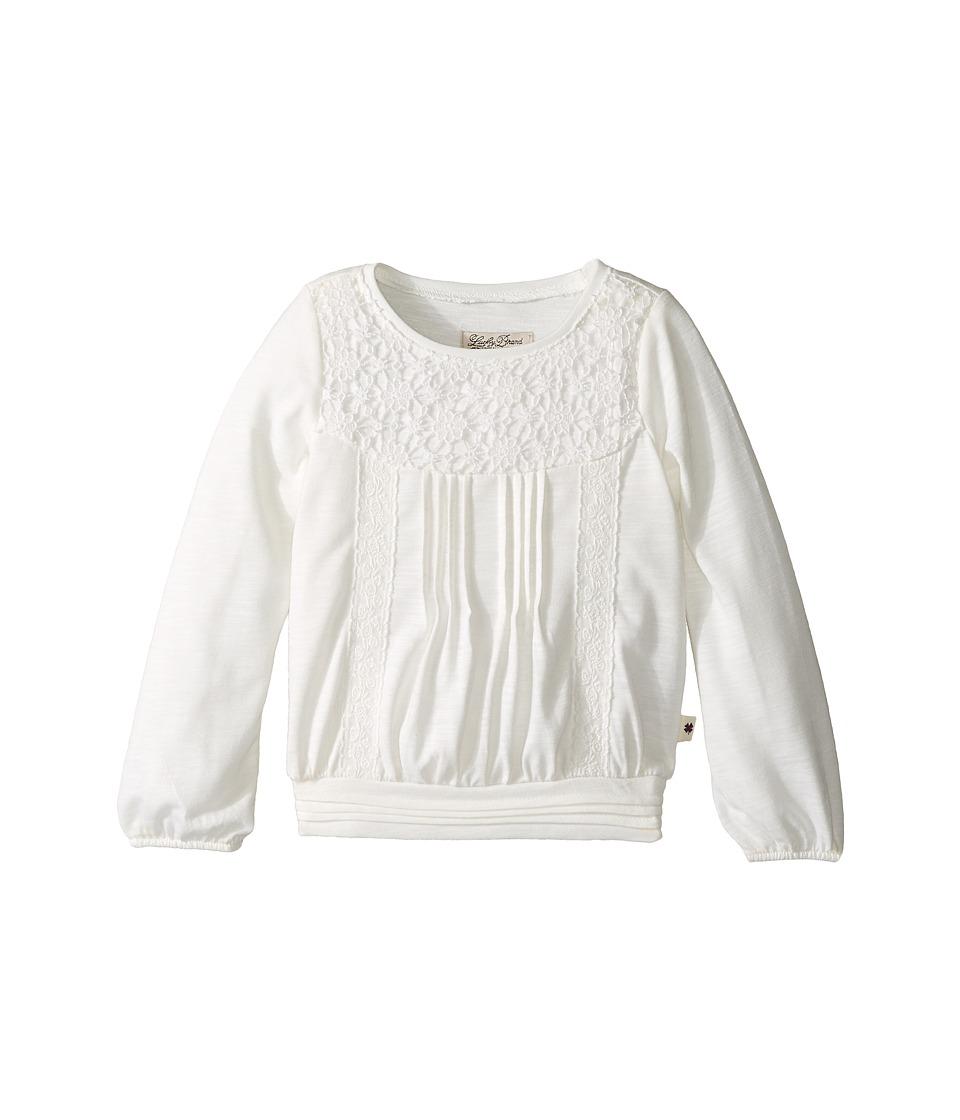 Lucky Brand Kids - Peasant Blouse with Crochet (Toddler) (Gardenia) Girl's Blouse