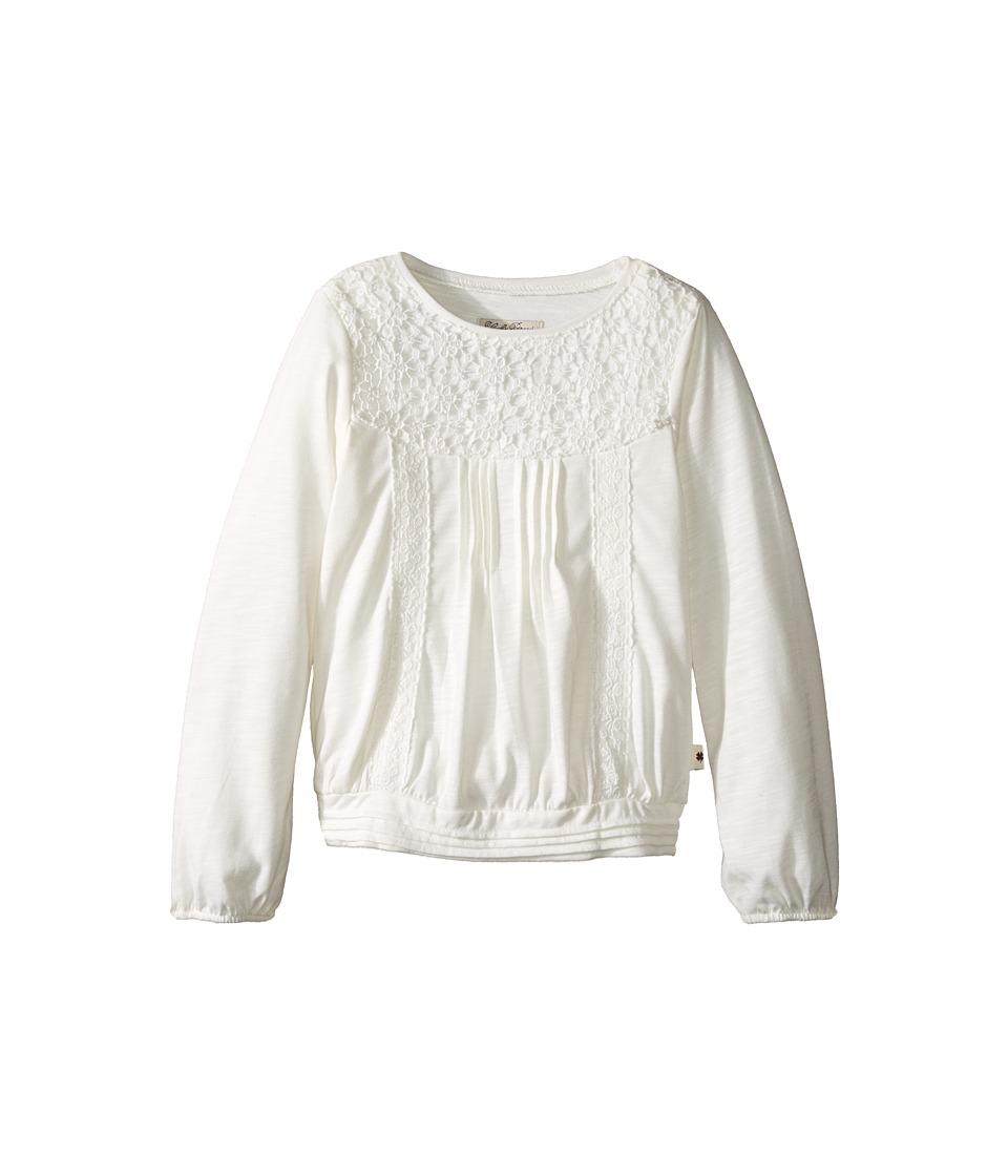 Lucky Brand Kids - Peasant Blouse with Crochet (Little Kids) (Gardenia) Girl's Blouse