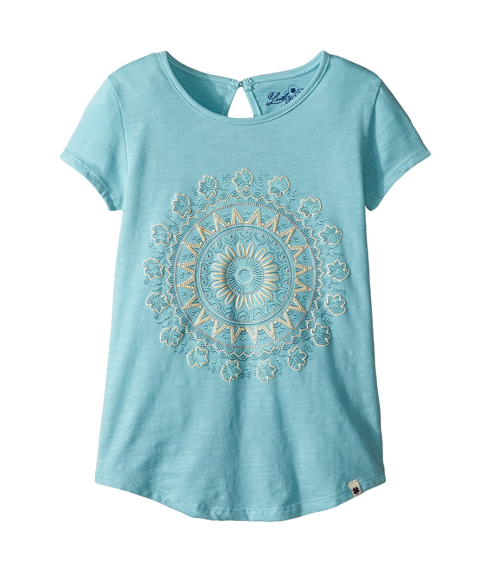 Lucky Brand Kids Peasant Tee with Graphic (Little Kids) (Reef Water) Girl