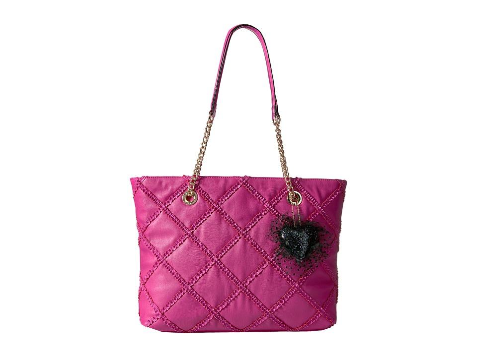Betsey Johnson - Cross Your Heart Tote (Fuchsia) Tote Handbags