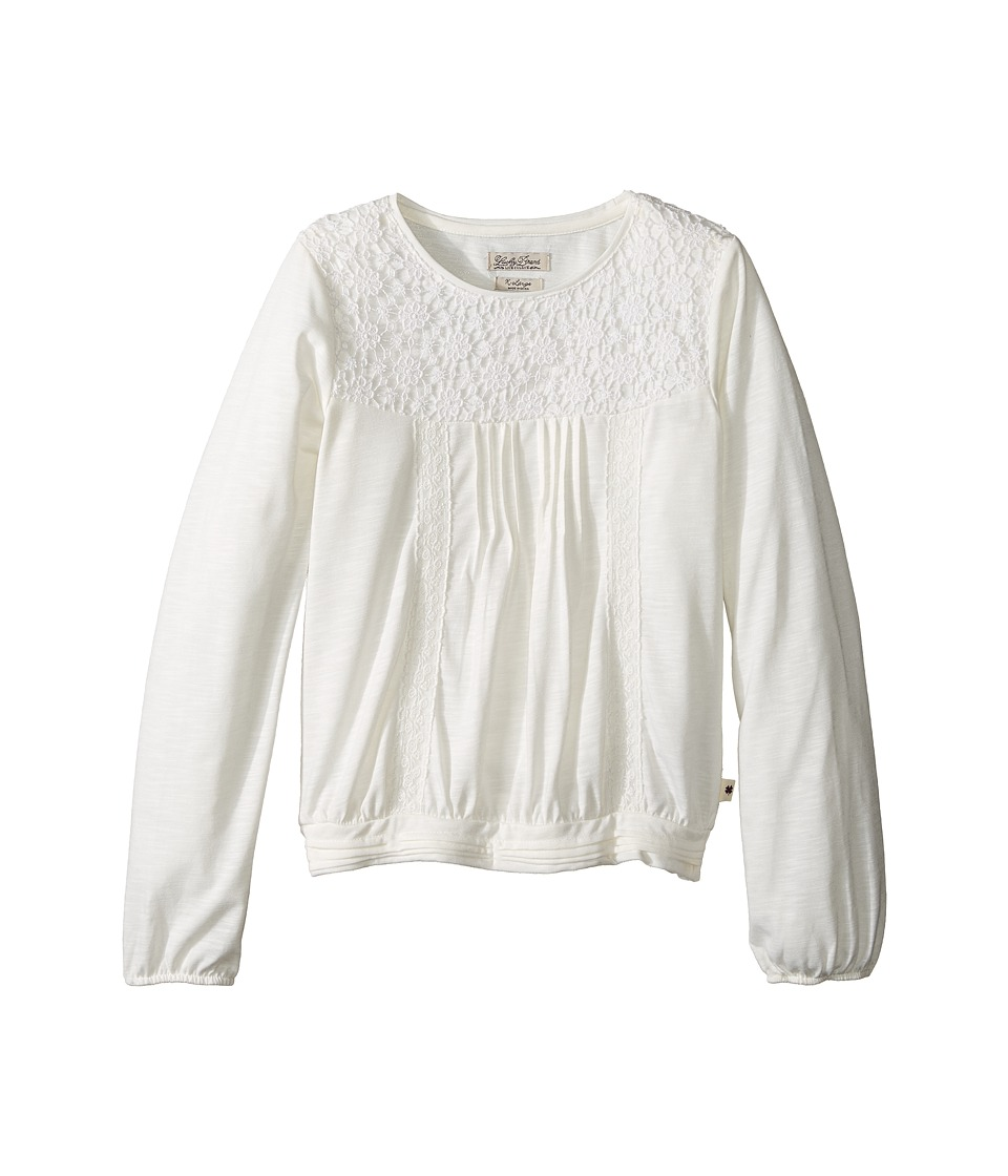 Lucky Brand Kids - Peasant Blouse with Crochet (Big Kids) (Gardenia) Girl's Blouse
