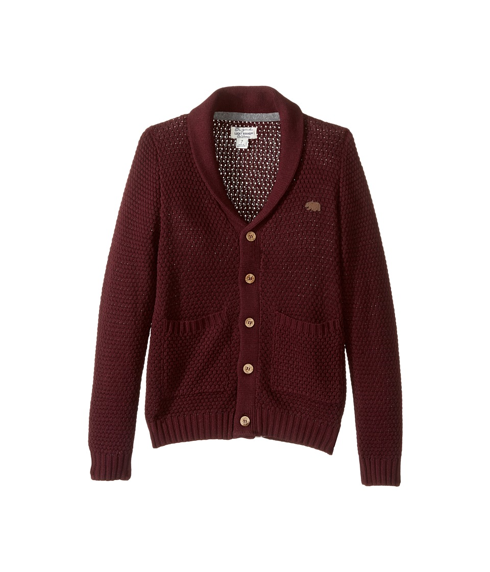 Lucky Brand Kids - Popcorn Cardigan with Pockets Sweater (Little Kids/Big Kids) (Dark Cherry) Boy's Sweater