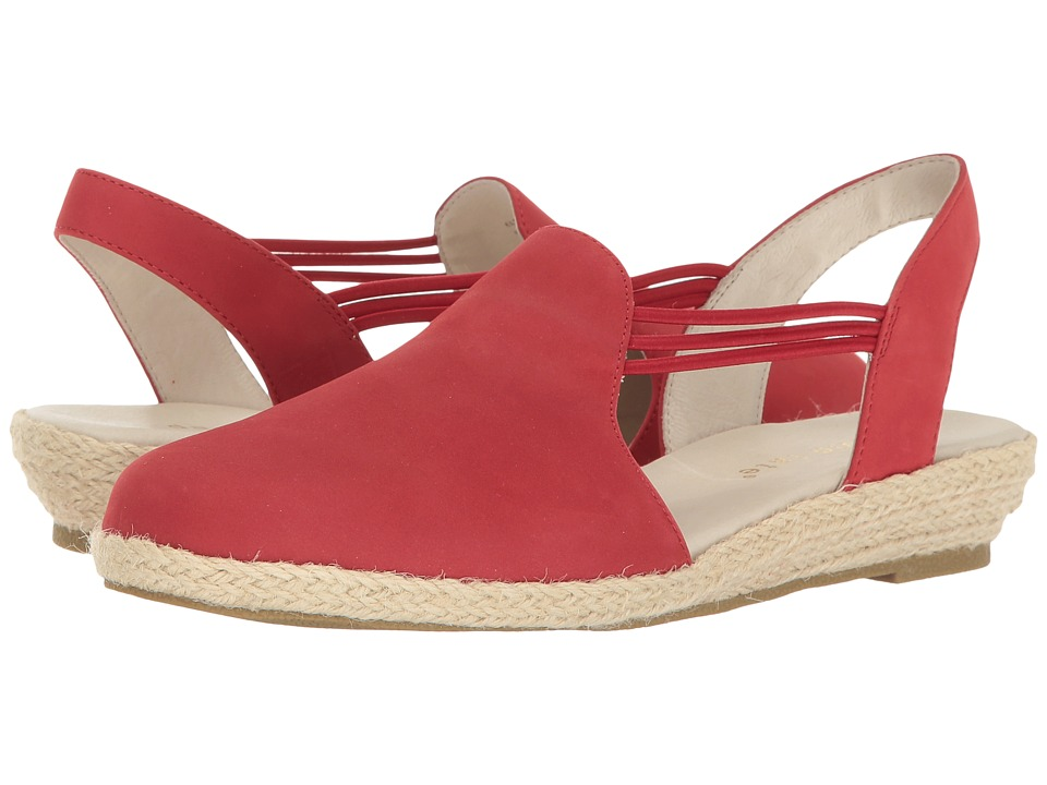David Tate - Nelly (Red Nubuck) Women's Sandals