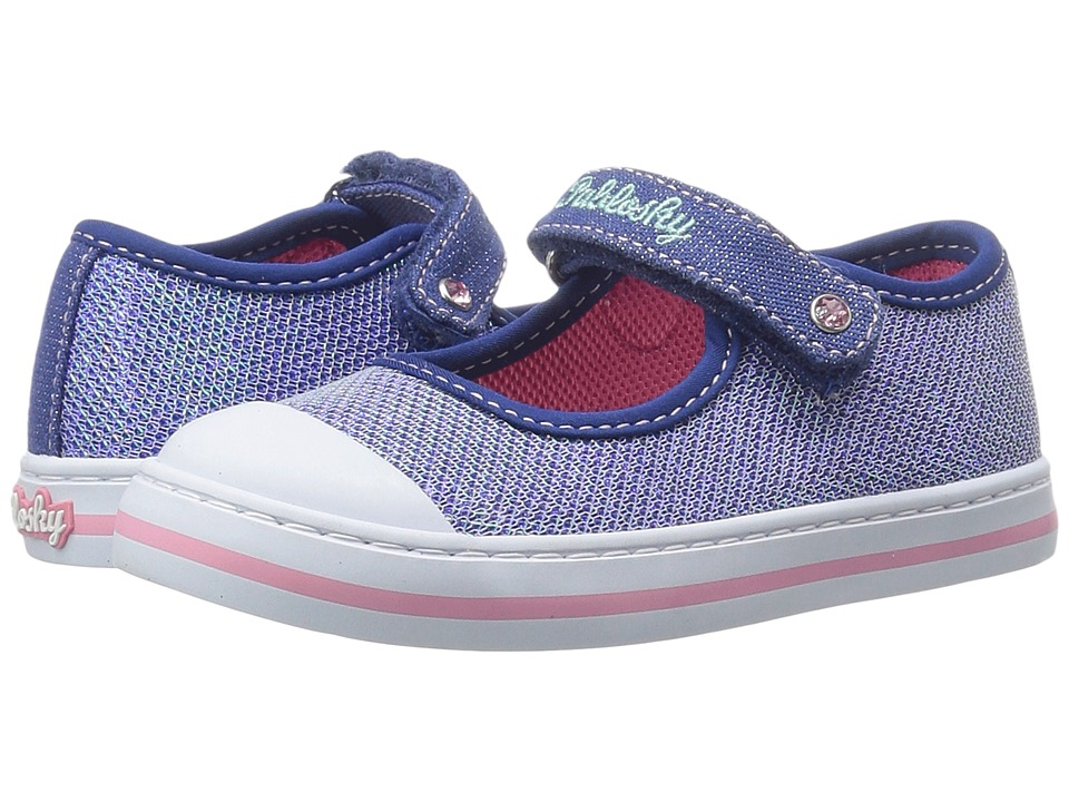 Pablosky Kids - 9395 (Toddler) (Navy) Girl's Shoes