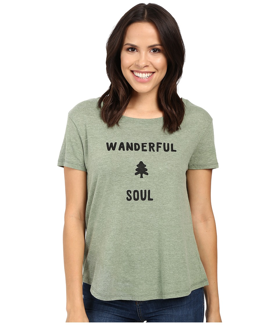 Alternative - Backstage Vintage Jersey Graphic Tee (Vintage Pine Wanderful Soul Graphic) Women's T Shirt