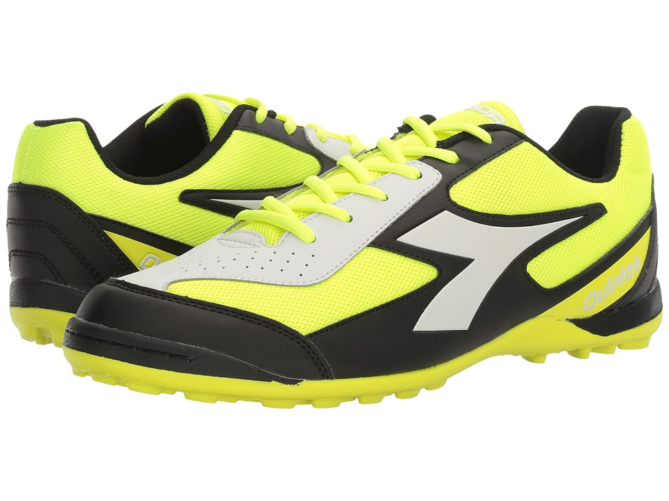 Diadora - Quinto 6 TF (Yellow Fluo/DD Black) Soccer Shoes