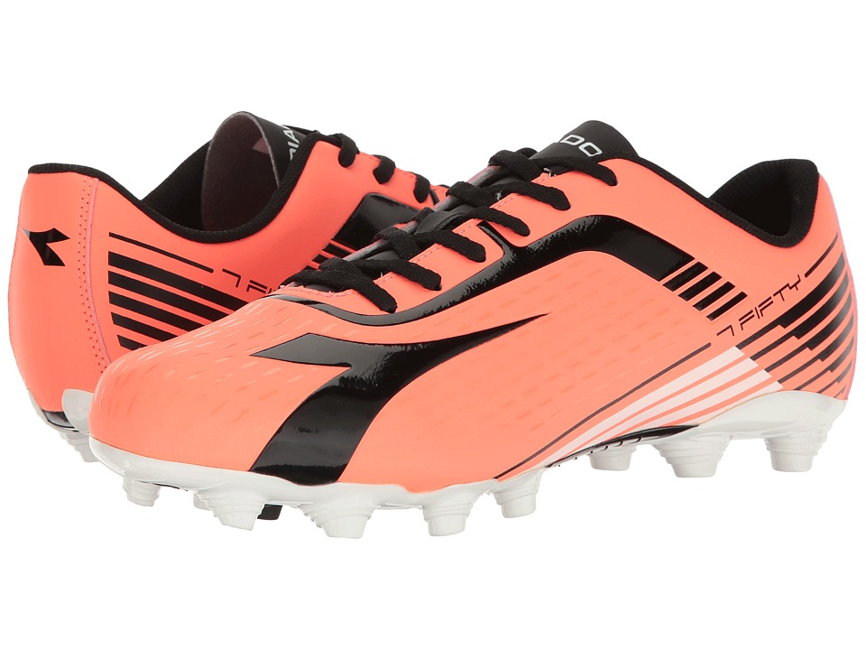 Diadora - 7Fifty MG 14 (Red Fluo/Black) Soccer Shoes