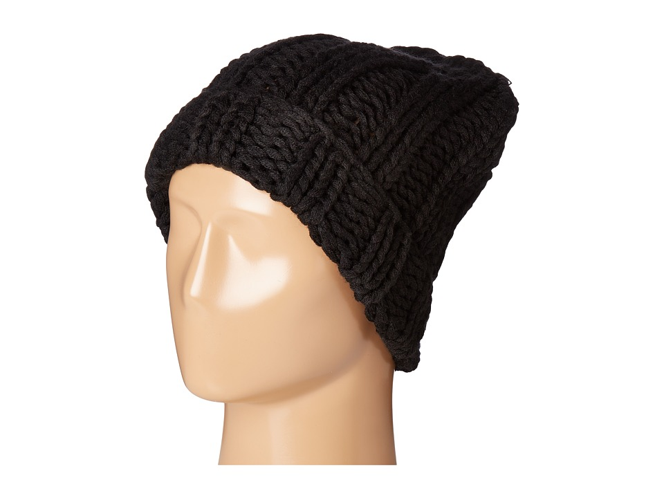 Free People - Back to Basics Chunky Rib Beanie (Black) Beanies
