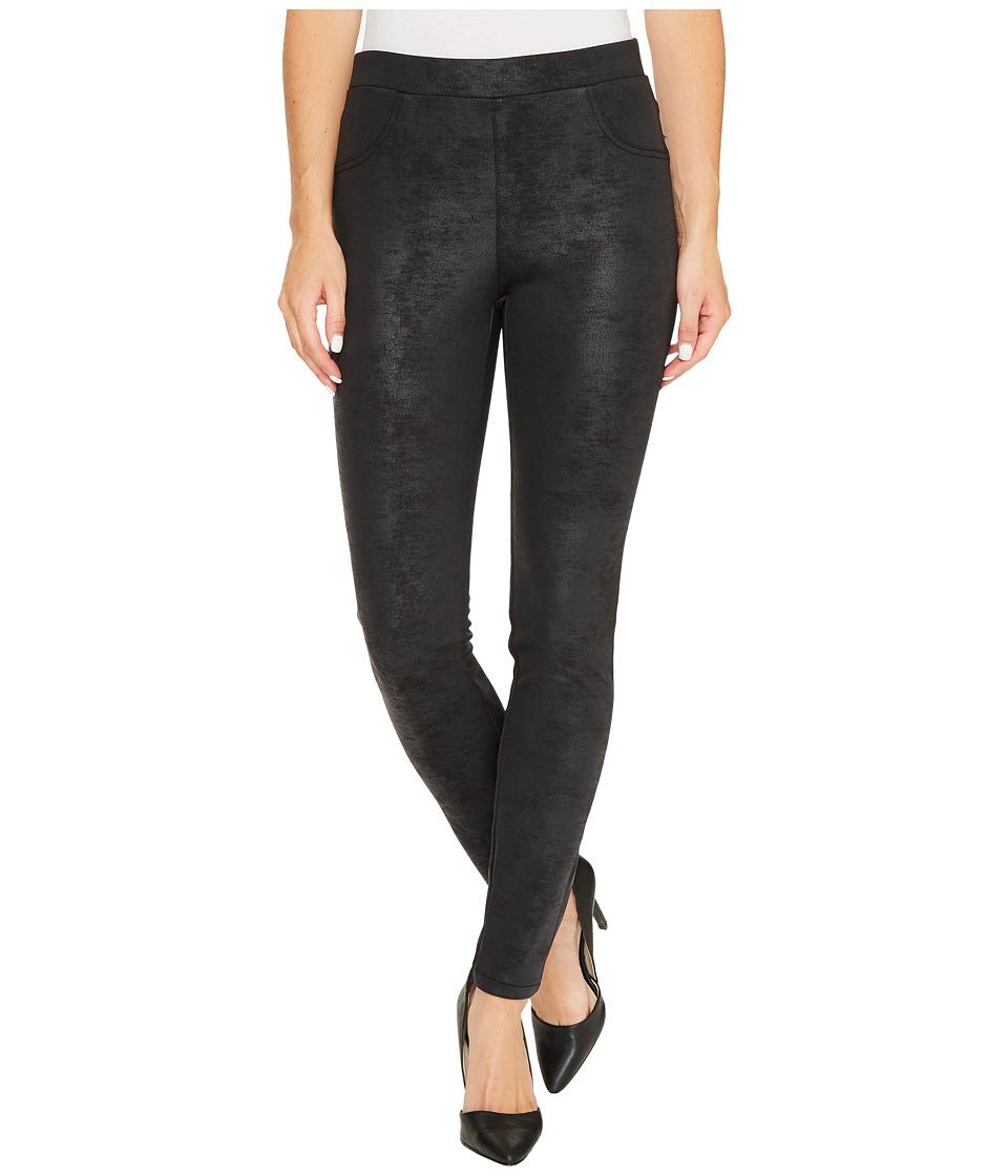 Karen Kane Stretch Faux Leather Pants (Black) Women's Casual Pants