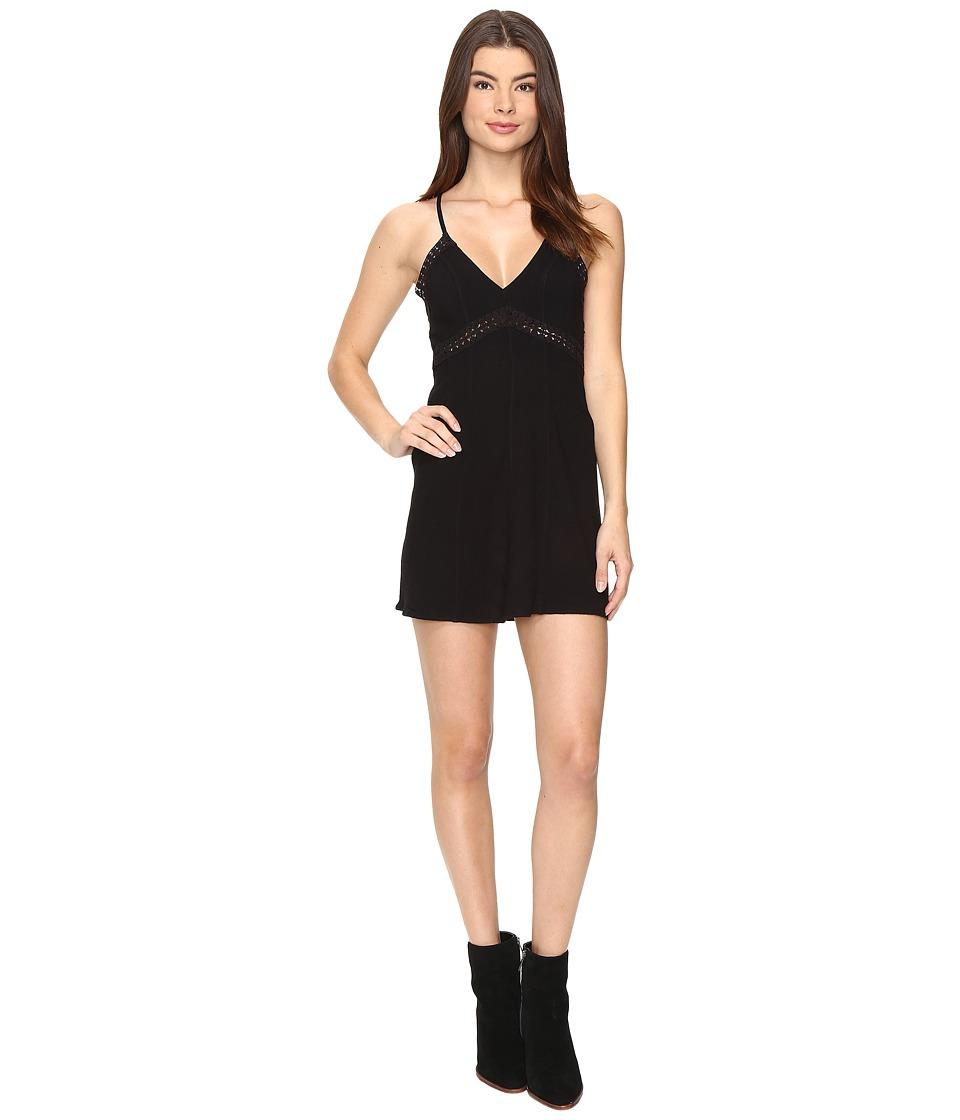Free People - Sweet Talker Slip (Black) Women's Dress