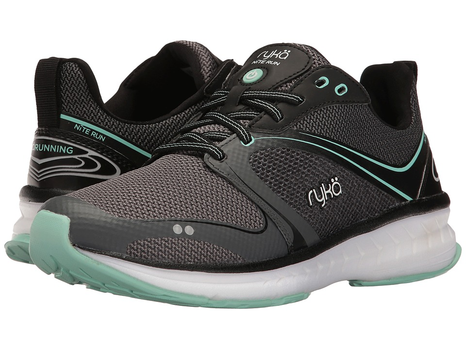 Ryka - Nite Run (Black/Iron Grey/Yucca Mint) Women's Running Shoes