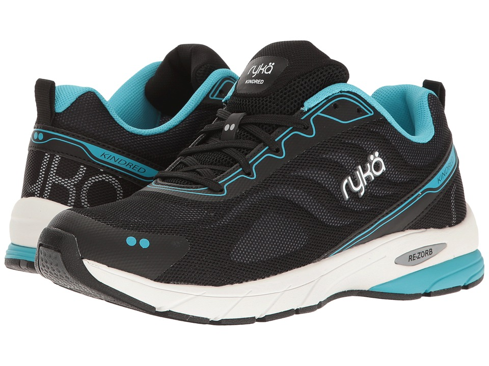 Ryka - Kindred (Black/Iron Grey/Detox Blue) Women's Running Shoes