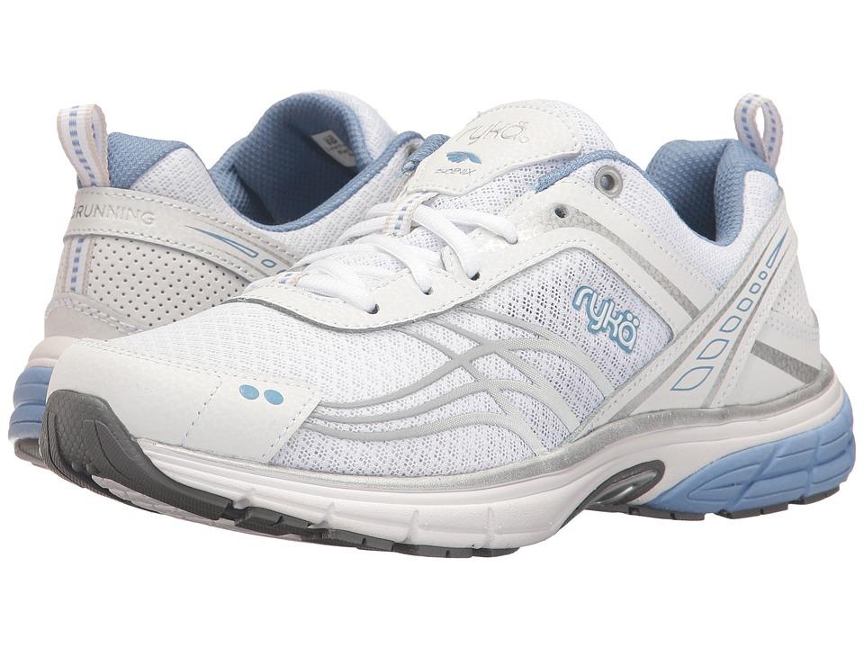 Ryka - Phoenix (White/Chrome Silver/Metallic Lake Blue) Women's Running Shoes