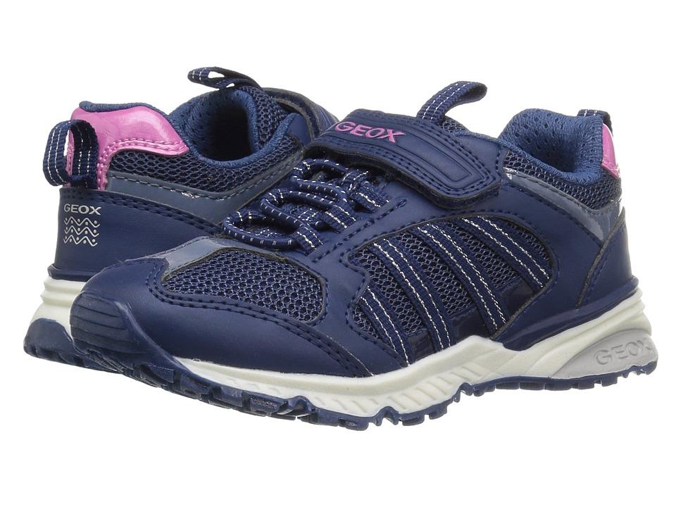 Geox Kids Jr Bernie Girl 6 (Toddler/Little Kid) (Navy) Girl's Shoes