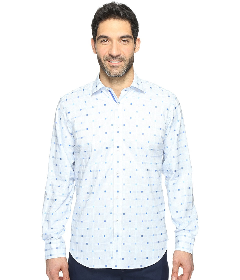 BUGATCHI - Long Sleeve Classic Fit Point Collar Shirt (Sky) Men's Long Sleeve Button Up