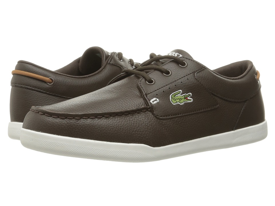 Lacoste - Codecasa (Dark Brown/Tan) Men's Shoes