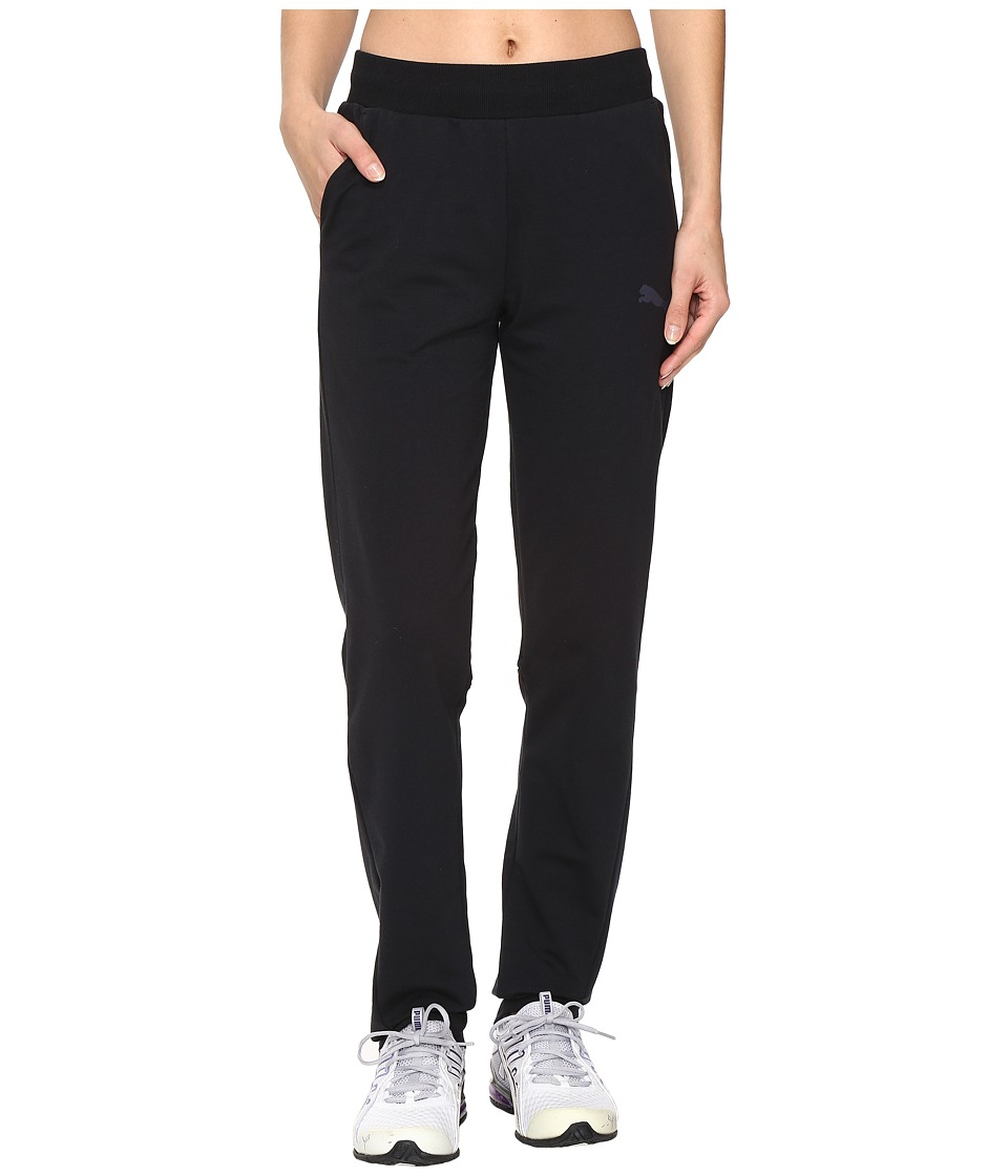 PUMA - Elevated Sweat Pants (Cotton Black) Women's Casual Pants