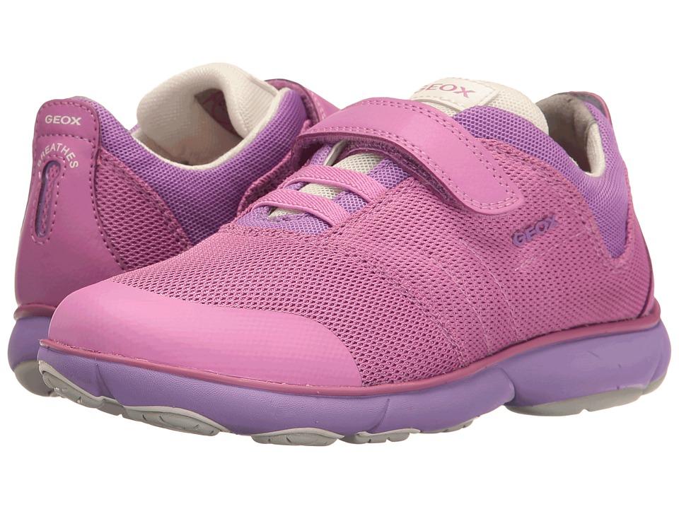 Geox Kids - Jr Nebula Girl 2 (Little Kid/Big Kid) (Fuchsia) Girl's Shoes