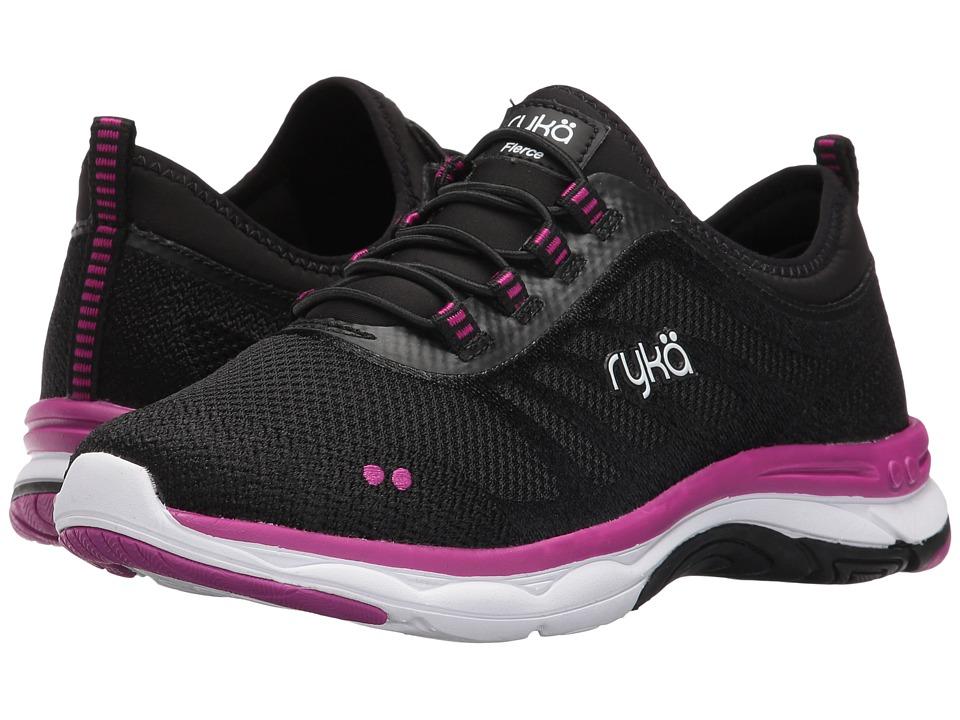 Ryka - Fierce (Black/Iron Grey/Vivid Berry) Women's Walking Shoes