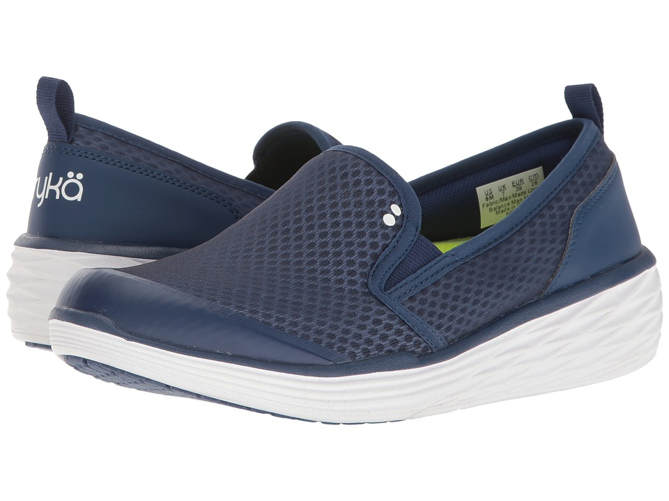 Ryka - Neve (Jet Ink Blue/Lime Shock/White) Women's Shoes
