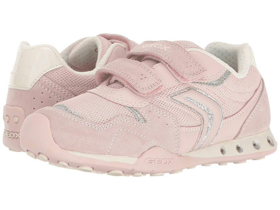 Geox Kids - Jr New Jocker Girl 39 (Little Kid/Big Kid) (Light Rose) Girl's Shoes