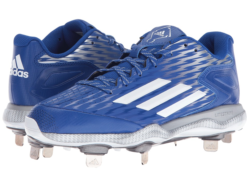adidas - PowerAlley 3 (Collegiate Royal/White/Grey Metallic) Women's Shoes